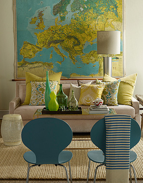 Decorating With Maps Beautiful Symmetry